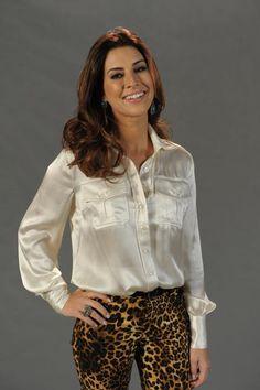 Inspiração...  Fernanda Paes Leme na coletiva de Salve Jorge!!!