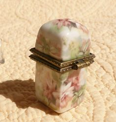 Pink Rose Perfume Box with Bottle by Chinapainter1 on Etsy