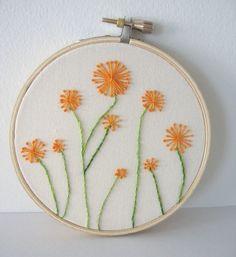 Embroidery Hoop Art - Dandelions
