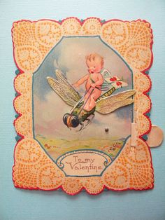 Vintage Valentine's Day Card Mechanical by SongbirdSalvation