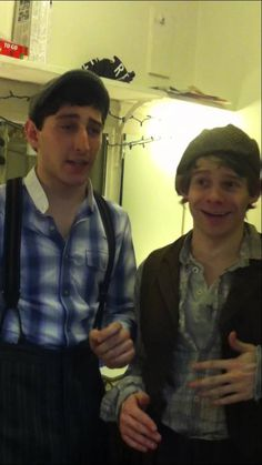 """Andrew and Ben doing QOD """"Take a song in the show and make it your own"""""""