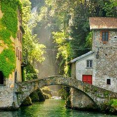 Pathway over water...bridge style.