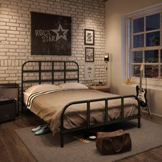 AMISCO - Rockville (12396-60) - Furniture - Bed - Industrial collection - Contemporary