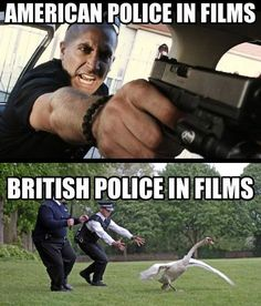 American Police in Films vs   British Police in Films.