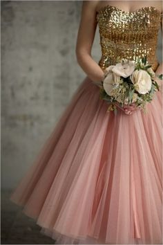 gold and pink gown - Lover.ly