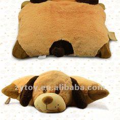 suave de la felpa animal plegable cojín almohada mantas para la ...
