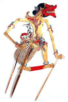 Wayang Buta Cakil Indonesian Art, Javanese, Shadow Puppets, Book Design, Art History, Sony, Panda, Tattoos, Children