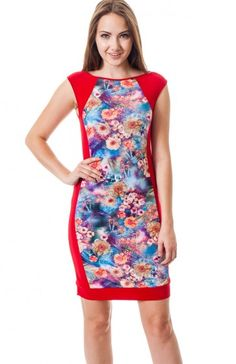 Red round neck sleeveless floral tile print bodycon dress featuring solid print panels. Keep the night interesting with this unique knock out dress. TAGS # , #wholesale dresses #fashion wholesale dress , #party dress, #mini dress, #printed dress, #Boutique #Boutique Wholesale, #Sexy, #USA Made Wholesale 94% POLYESTER. 6% SPANDEX. HAND WASH COLD WATER. MACHINE WASH GENTLE. DO NOT BLEACH. MADE IN USA. $12.95