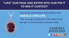 I just entered the Samuels Jewelers' 'Pin it To Win It' Contest. Click this Pin to see how to enter to win a Royal Jewels Collection, Natural Faceted Ruby Sterling Silver Necklace. Samuels Jewelers, H Samuel, Indian Jewellery Online, Golden Jewelry, Geek Fashion, Garnet Necklace, New Pins, Jewelry Making Supplies, Sterling Silver Necklaces