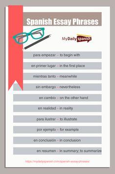 40 Useful Spanish Essay Phrases