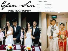 Glensin productions specialise in wedding photography and videography with a primary aim to provide professional yet affordable services for our clients.  Further more info call 65 9658 4558 and Email - glen@glensin.com and you can also browse us online @ http://www.glensin.com/