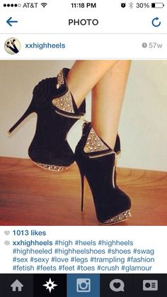 black and gold booties