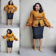 50 African Office outfits to try on - Ankara Lovers Latest African Fashion Dresses, African Dresses For Women, African Print Fashion, African Attire, Office Dresses For Women, Office Outfits Women, Stylish Work Outfits, African Traditional Dresses, Fashion Outfits