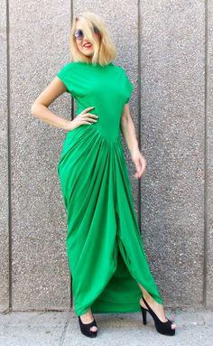 Green Maxi Dress, Loose Summer Dress, Plus Size Dress, Sleeveless Summer Dress TDK25 by TEYXO https://www.etsy.com/listing/180296107/green-maxi-dress-loose-summer-dress-plus?utm_campaign=crowdfire&utm_content=crowdfire&utm_medium=social&utm_source=pinterest