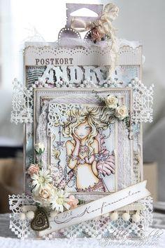 Cards by Camilla: Sweet Pea konfirmasjons posekort ♥