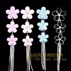 Bling cabochon decoden Kawaii Flower crystal Metal Silver / DIY cell phone case decoden cabochon / embellshment / Scrapbooking 1 pc