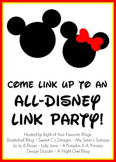 Come link up to an all Disney link party for a chance to be seen on 8 of your favorite blogs! via @Sarah McKenna of Bombshell Bling