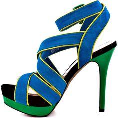 Jessica Simpson Evangela - Atlantic Blue ($99) ❤ liked on Polyvore