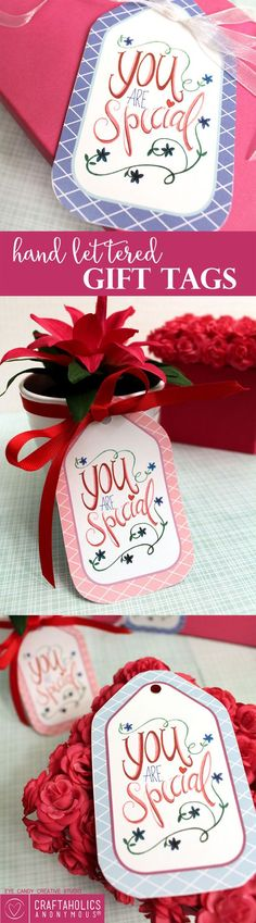 Craftaholics Anonymous® | Gift tag idea for someone special. Printable tutorial, and makes your present look like art.