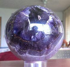 HUGE AURALITE-23 Crystal Sphere/Ball Cacoxenite Hematite Smoky Quartz Amethyst