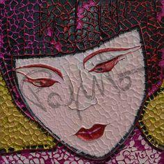 MYA - 40x40 cm. Acrilc on canvas  #GEISHA