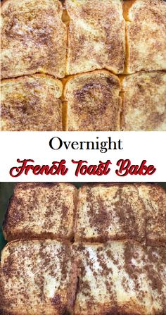 Overnight French Toast Bake - Dishes Food - Tips Food Recipes Overnight French Toast, French Toast Bake, Brunch Recipes, My Recipes, Dinner Recipes, Food Hacks, Food Tips, Food Ideas, Good Food