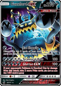 Guzzlord-GX (Crimson Invasion CIN — PkmnCards - Pokemon about you searching for. Pokemon Go, All Pokemon Cards, Pokemon Cards Legendary, Pikachu Art, Pokemon Trading Card, Pokemon Fusion, Pikachu Chibi, Tous Les Pokemon, Pokemon Birthday