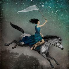 """Dreamcatcher by Christian Schloe. http://www.artflakes.com/en/products/dreamcatcher-17"