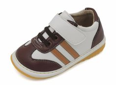 Squeaky Shoes | Brown & Tan Toddler Boy Sneakers