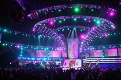 The Grammys stage glowed with close to 2,000 LED Versatubes.