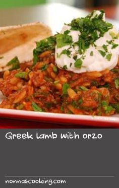 Serve up a table-sharing delight with this recipe for Greek-style lamb. Greek Lamb Recipes, Recipe F, Lamb Shoulder, Orzo, Served Up, A Table, Mashed Potatoes, Cooking Recipes, Yummy Food