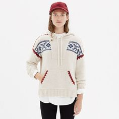 Fair Isle Hoodie Sweater. A look my hubby would like for me.