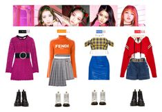 """""""BLACKPINK - AS IF IT'S YOUR LAST❤️"""" by vvvan99 ❤ liked on Polyvore featuring GCDS, Fendi, Monse, Adam Selman, Topshop Unique, Isabel Marant, Yves Saint Laurent, River Island, Dr. Martens and Charlotte Russe"""