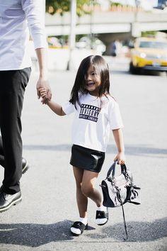 Aila Wang wearing Alexander Wang SS14 New York Fashion Week #NYFW