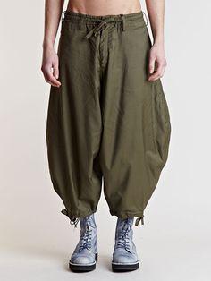 Yohji Yamamoto Men's Round Side Twill Pants