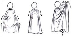 how to draw capes/cloaks