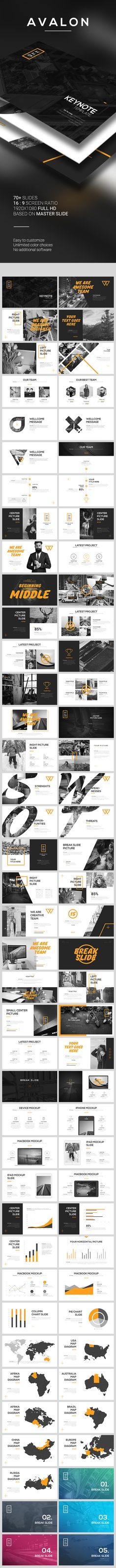 AVALON Keynote Template. Download here: http://graphicriver.net/item/avalon-keynote-template/16149402?ref=ksioks