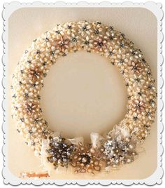 So elegant! Love this beaded wreath tutorial w/ supplies from #BlueMoonBeads