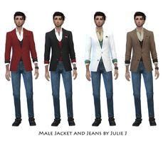 Male Jacket and Jeans by Julie J at Julietoon – Julie J