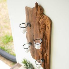 Repurposed Wood Wall Sconce