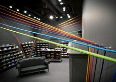 Run Colors sneaker shop mode:lina architekci architectural studio Sneaker Shop, Sneaker Stores, Cool Retail, Nike Retail, Shoe Store Design, Shoe Shop, Showroom Design, Interior Design, Interior Architecture