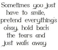 Now if I could just learn how to hold back the tears this would be great advice!!!  :)