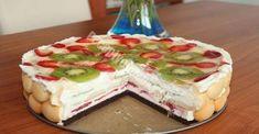 Kinder mliečny rez - rýchly a výborný koláčik bez múky! Sweet Desserts, Sweet Recipes, Czech Recipes, Ethnic Recipes, Summer Cakes, Creme, Cheesecake, Food And Drink, Pudding