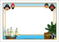 Pirates A4 page borders (SB8612) - SparkleBox