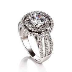 I do not like big fancy rings like this at all but it is stunning! Ladies Diamond Semi-Mount Circle Ring #Belloria