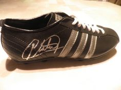 MICHEL PLATINI adidas vintage SIGNED SOCCER BOOT FOOTBALL France