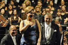 Desirée Rancatore e il M° Donato Renzetti (Ph. Annalisa Andolina)