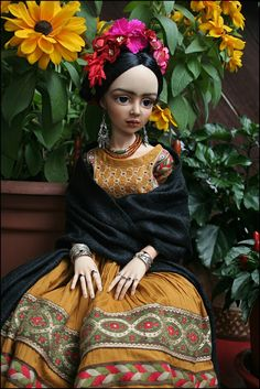 Frida Kahlo dolls.