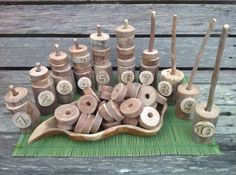 , Mathematical calculation set - counting - with natural materials - fingadingadoo ≈≈. , Mathematical calculation set - counting - with natural materials - fingadingadoo ≈≈ Maths Eyfs, Literacy And Numeracy, Preschool Activities, Math Manipulatives, Math Fractions, Early Years Maths, Early Math, Early Learning, Outdoor Education