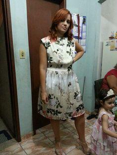 Minha linda filha, vestindo uma produção Nete Monteiro Ateliê